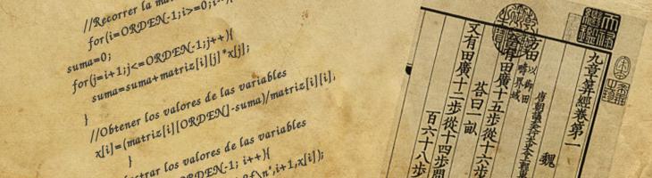 Eliminación Gaussiana – Algoritmos antiguos