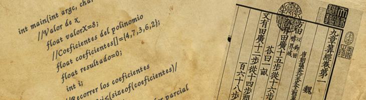 Método de Horner – Algoritmos antiguos
