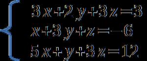 Sistema de ecuaciones - Eliminación Gaussiana