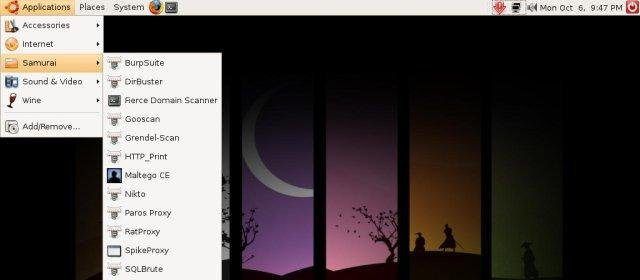 samurai hack linux pentesting hacking linux