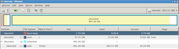 Mover el directorio /home a otra partición en GNU/Linux