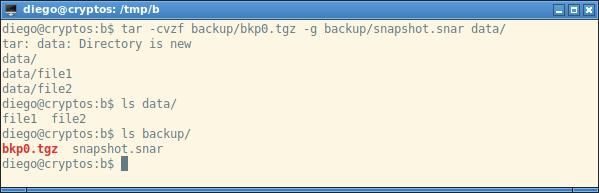 tar gzip bzip2 lzma xz backup incremental snar snapshot