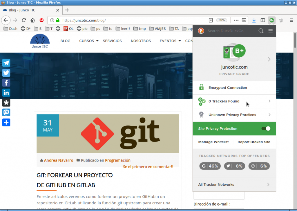 web trackers privacidad google chrome firefox seguridad rastreador facebook