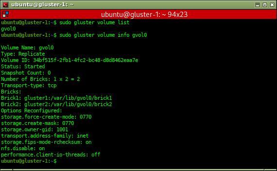 gluster volumen info