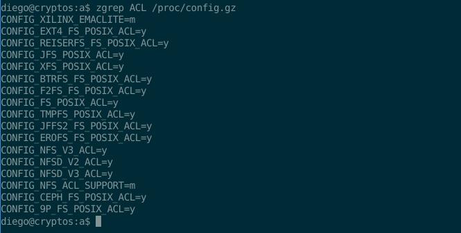 acl config kernel proc